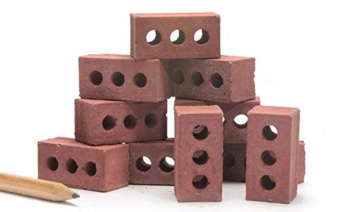 mini cement bricks red set