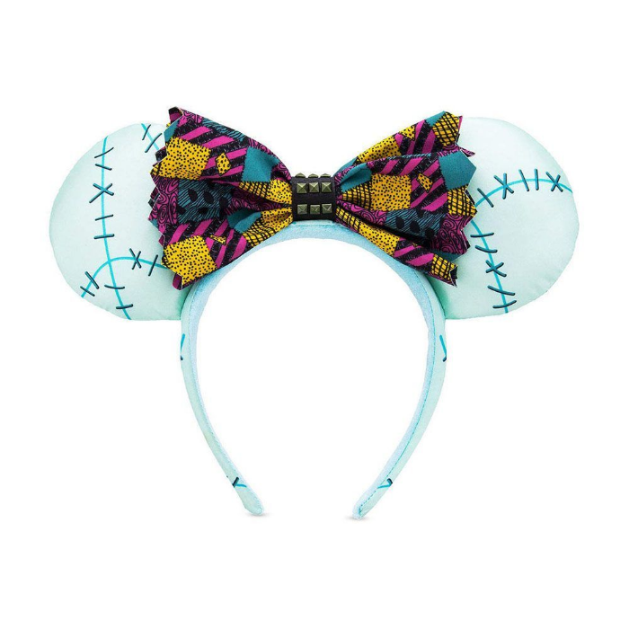minnie mouse bluish headband with ribbon halloween themed disney products sold on amazon