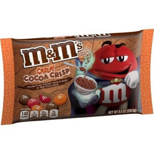 m&m's creepy cocoa crisp best new halloween candy