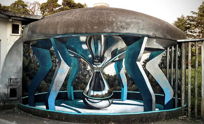 modern hub art graffiti object transformations bus artist odeith