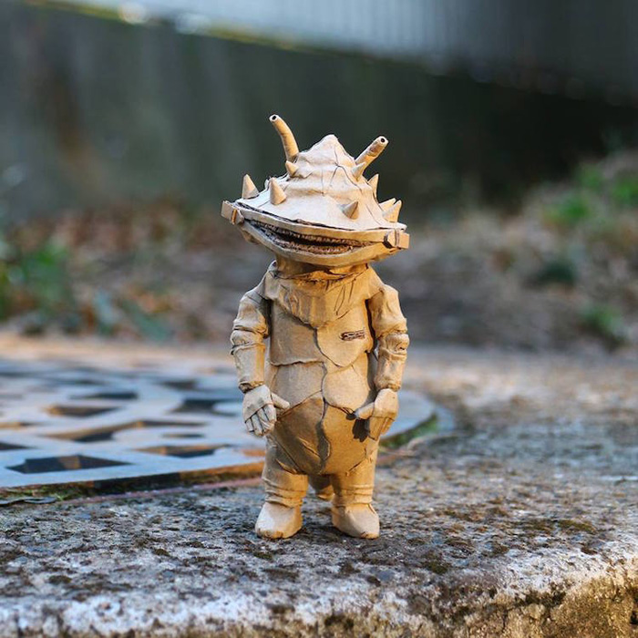 monami ohno cardboard sculptures kanegon
