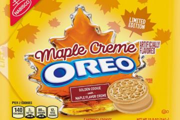 nabisco oreo golden maple creme cookies