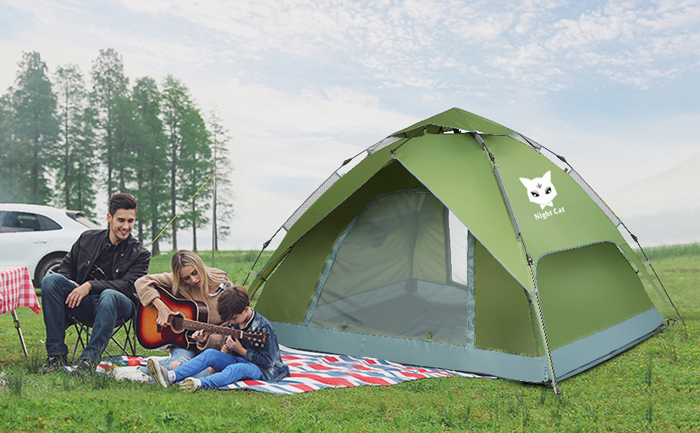 night cat four-person camping tent family