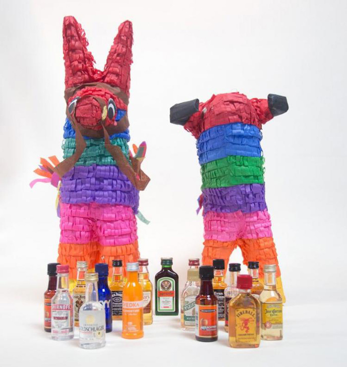 nipyata booze pinata mini travel bottles liquor