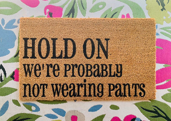not wearing pants doormat