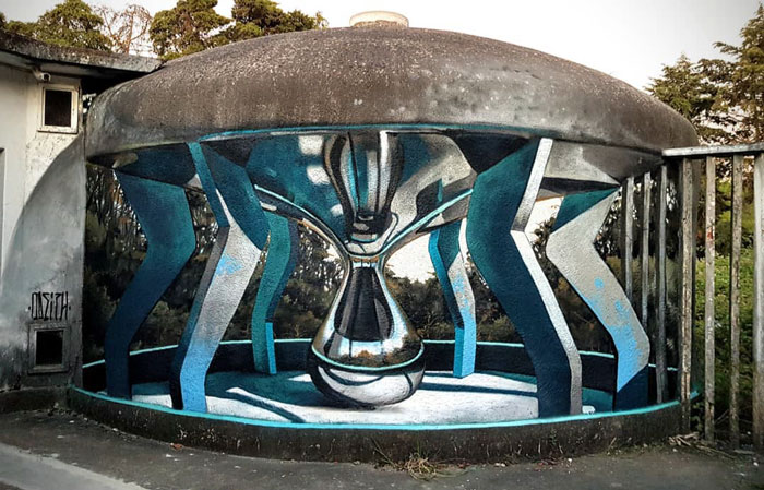 odeith jaw-dropping 3d street art chrome lamp