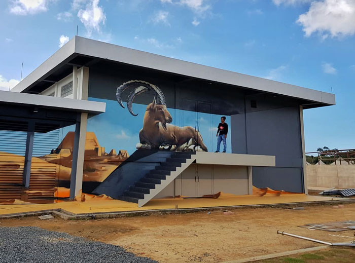 odeith jaw-dropping 3d street art desert animal