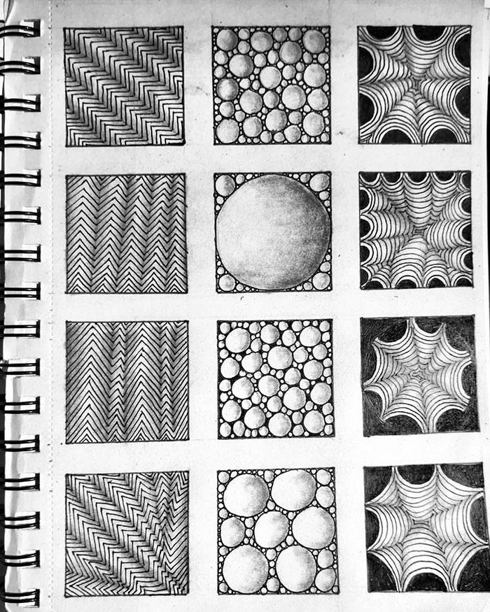 patterns on notebook self harm zentangle therapy tutorial