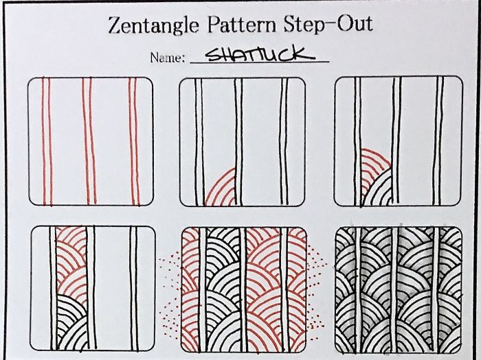 patterns to follow to treat self harm zentangle therapy tutorial