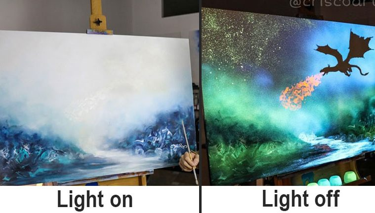 phosphorescent paintings