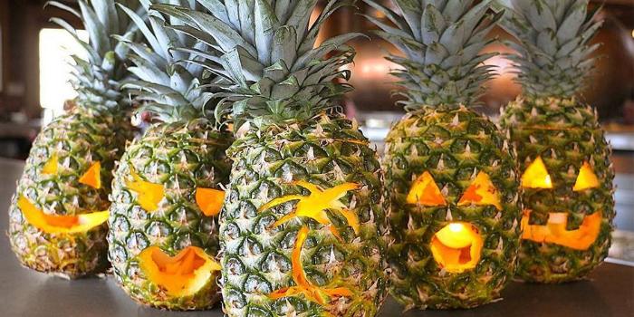 pineapple jack o' lantern carving