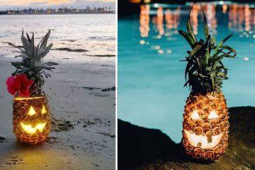 pineapple pumpkin halloween