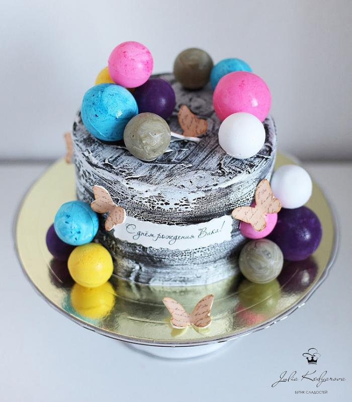 planet marbles cake art yulia kedyarova