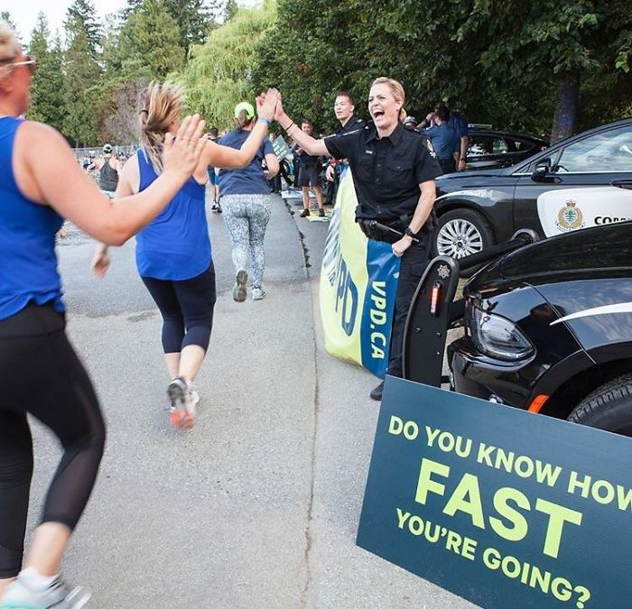 police stop in a marathon funny meanwhile in canada pictures