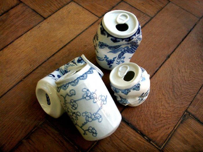 porcelain cans lei xue drinking tea