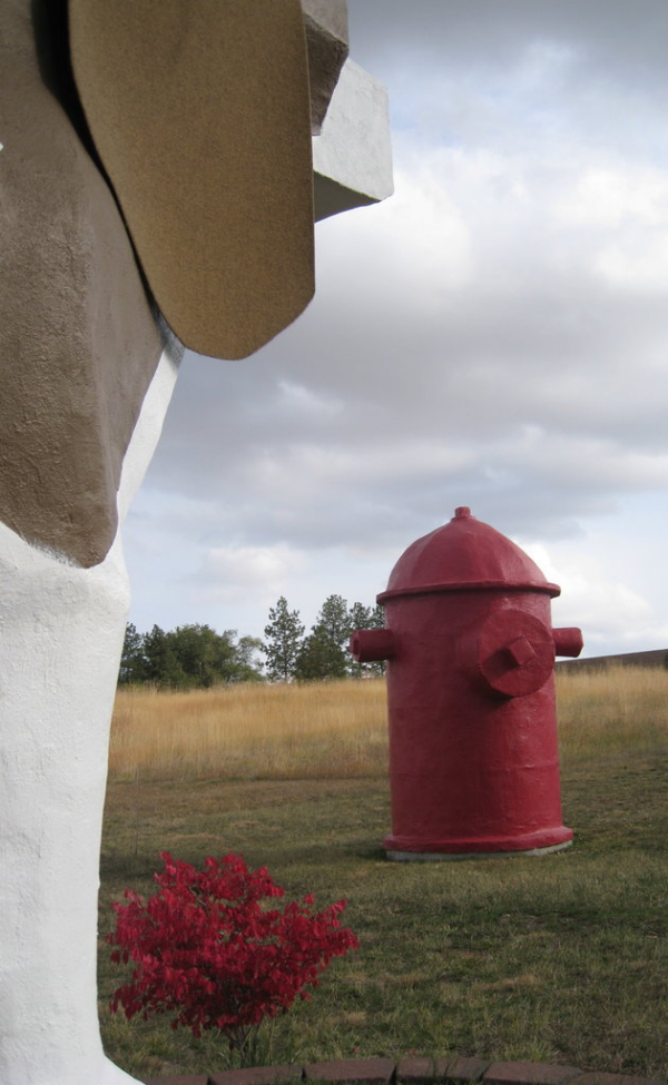 portable toilet in hydrant beagle shaped hotel dog bark park inn