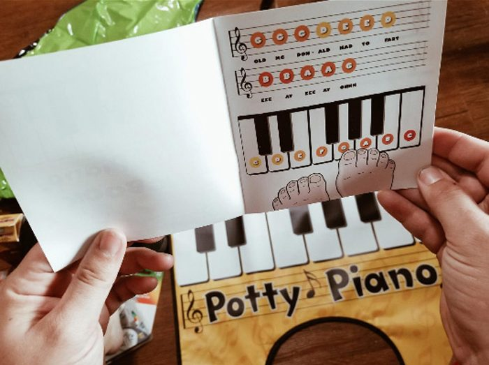 potty piano song book