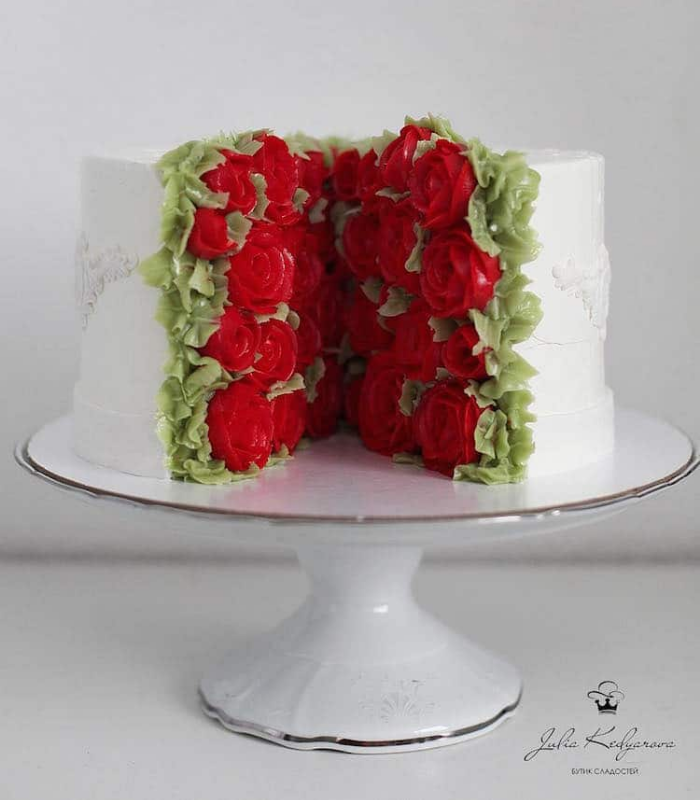 rose garden cake art yulia kedyarova