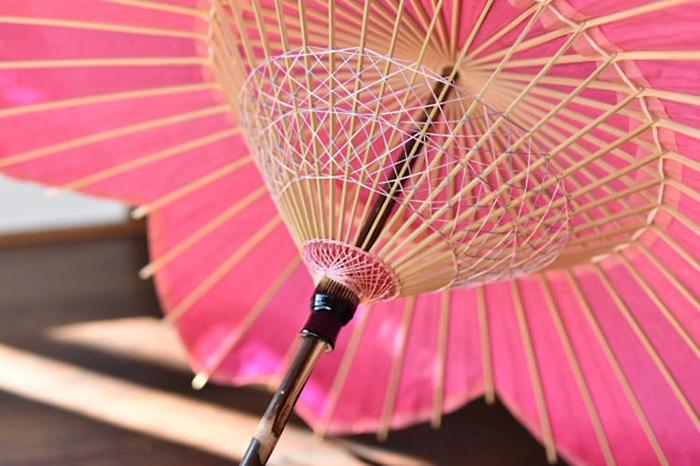 sakura-shaped parasol frame