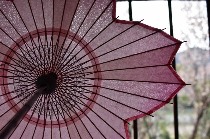 sakura-shaped parasol japanese paper