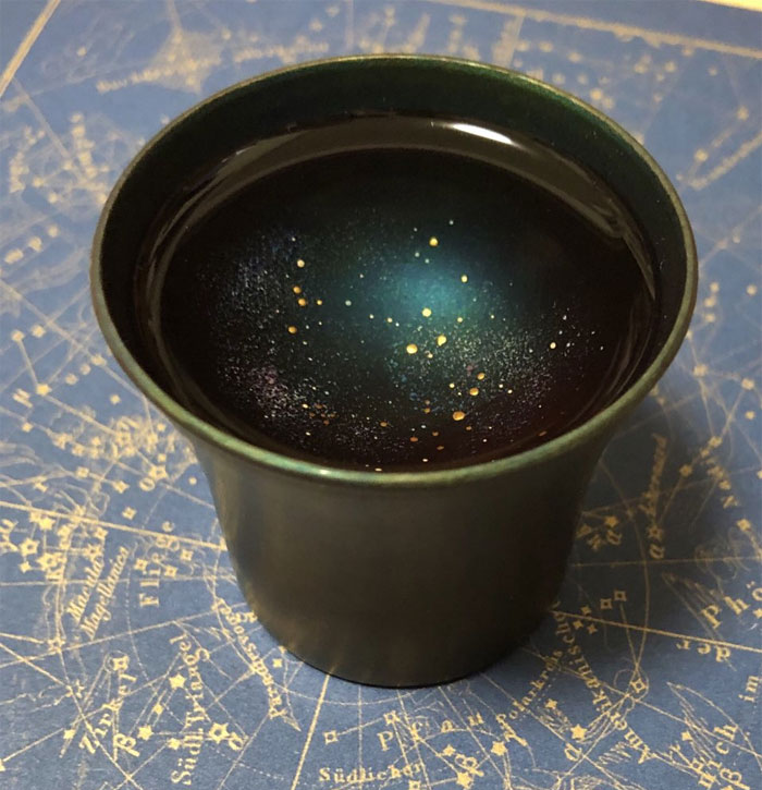 sample galaxy cups sake design