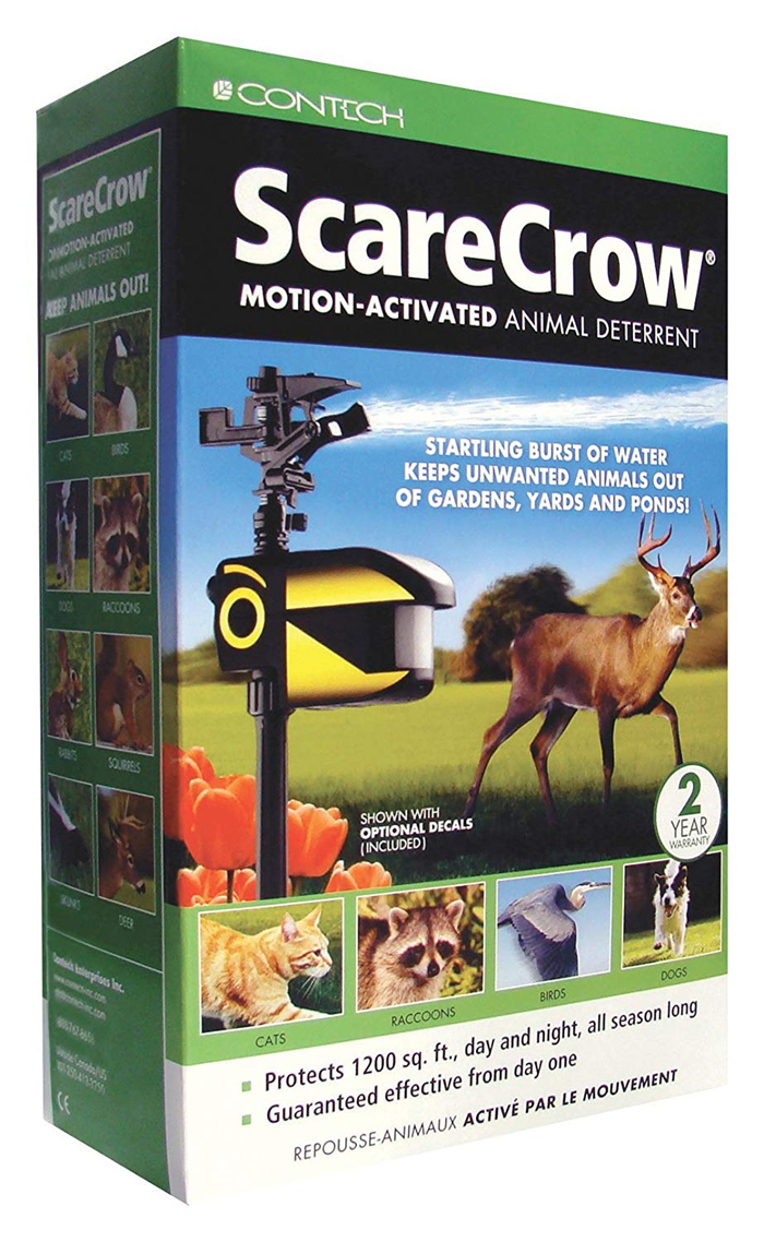 scarecrow motion activated sprinkler packaging