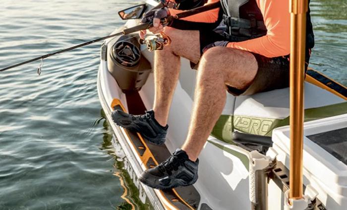 sea-doo fish pro fishing jetski angled gunwale footrest