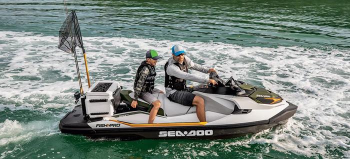 sea-doo fish pro fishing jetski boat