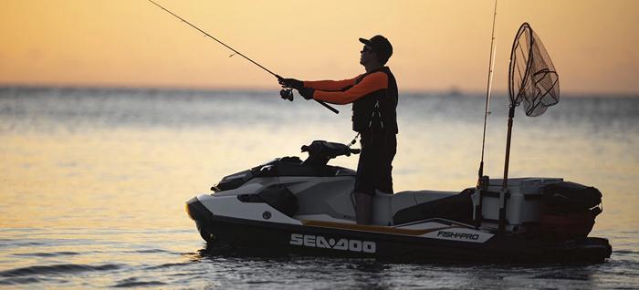 sea-doo fish pro fishing jetski fisherman