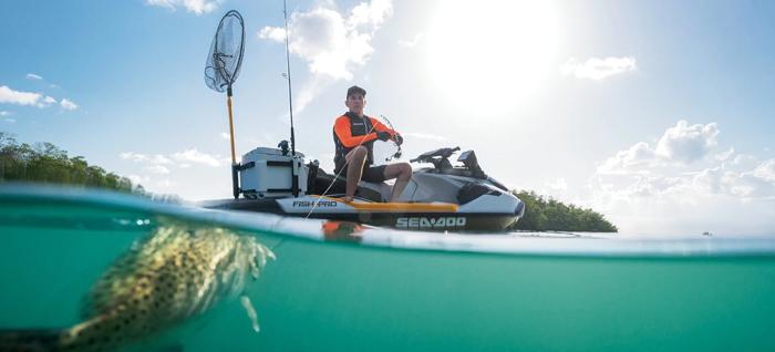 sea-doo fish pro fishing jetski personal watercraft