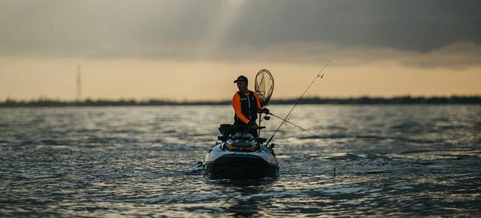 sea-doo fish pro fishing jetski rough waters
