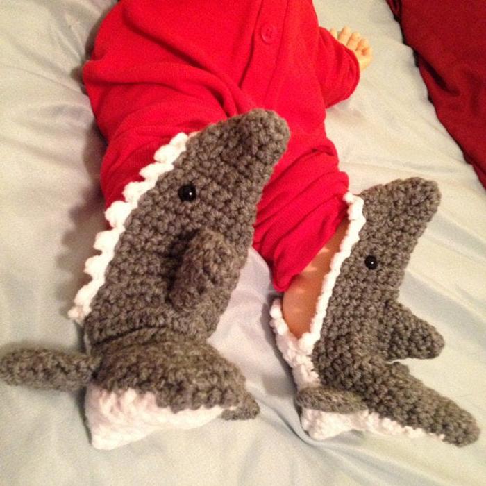 shark socks crochet pattern etsy