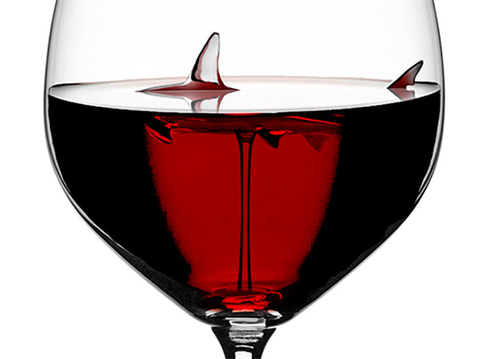 shark wine glasses bts design