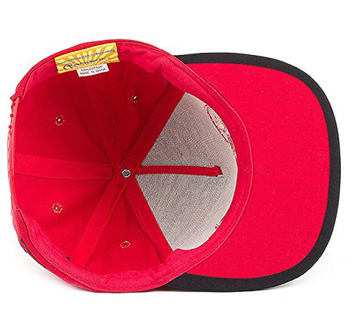 solsol solar charging hat red interior