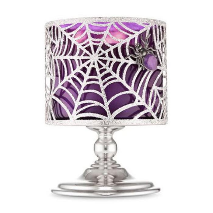 spider bath and body works halloween candles and candle holders
