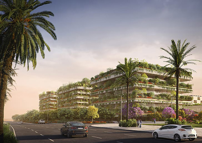 stefano boeri vertical forest cairo three buildings