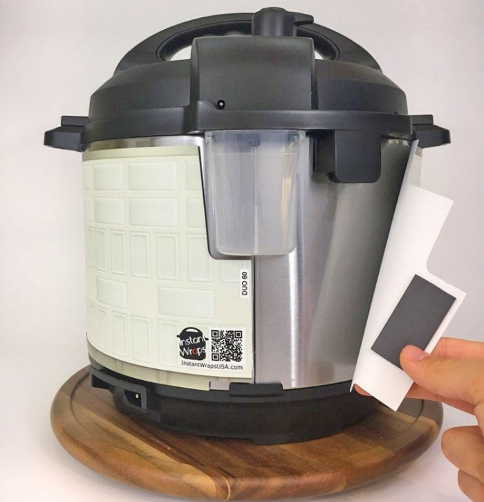 sticking the r2 d2 instant pot wrap