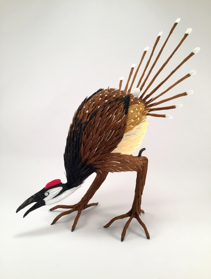 strange peacock like creature bosch pinatas robert benavidez