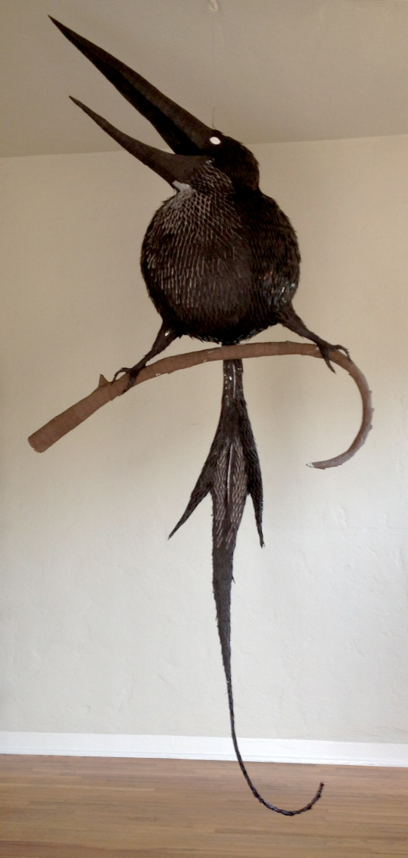 super long beak fat bird with long tail bosch pinatas robert benavidez