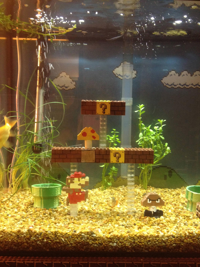 super mario aquarium brick boxes
