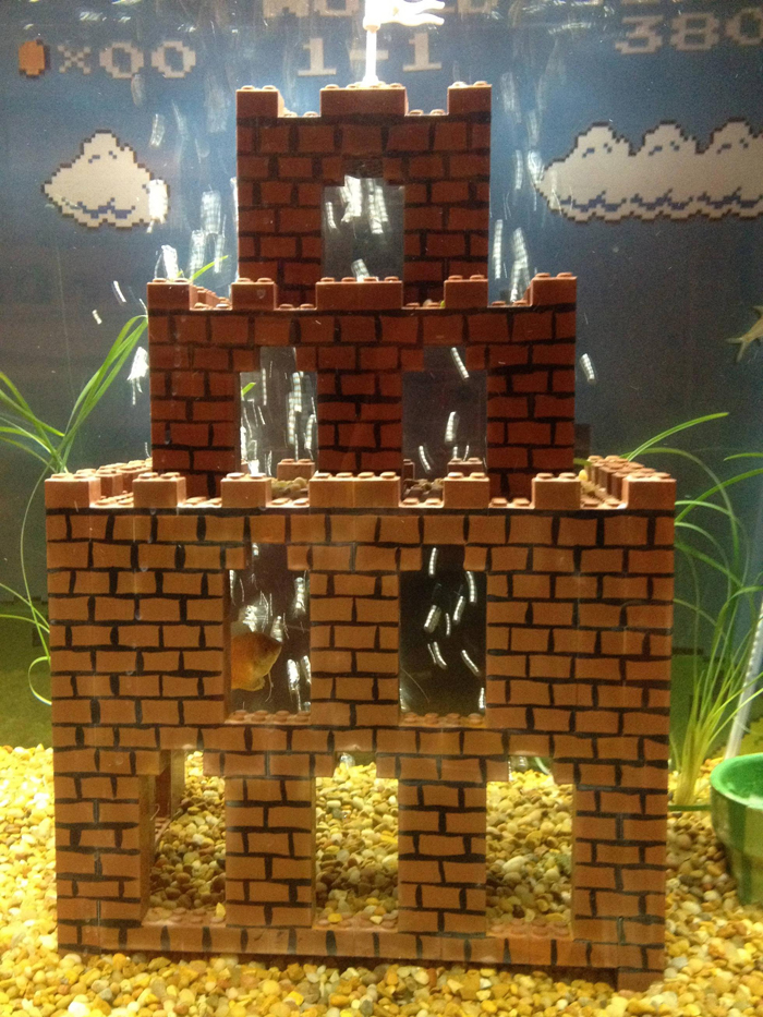 super mario aquarium castle fortress