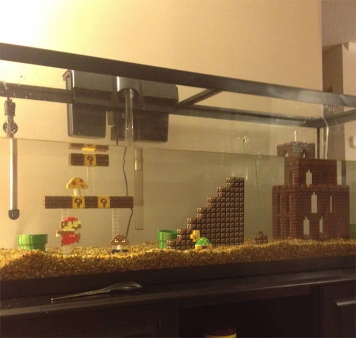 super mario aquarium fish tank