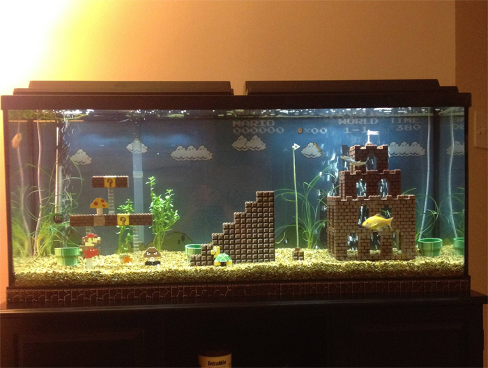 super mario aquarium game level