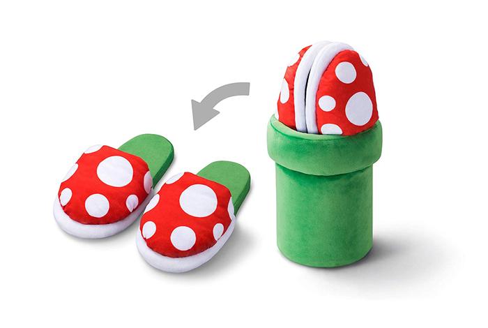 super mario piranha plant slippers collector item