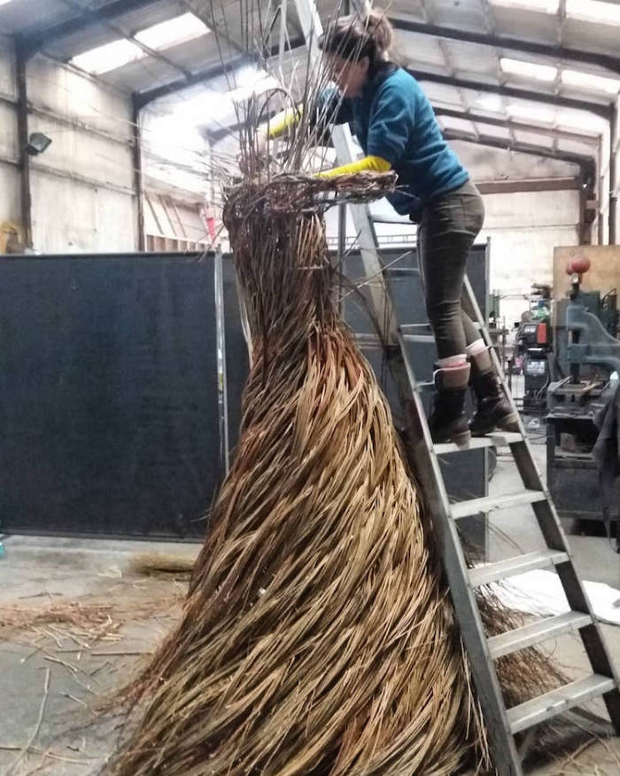 the making outdoor sculptures anna and the willow