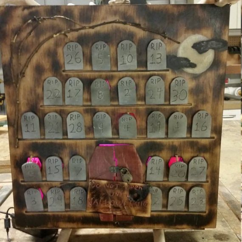 tombstones Halloween Advent calendars