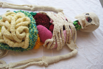 top view upper body crochet skeleton shanell papp