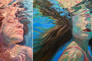 underwater oil paintings