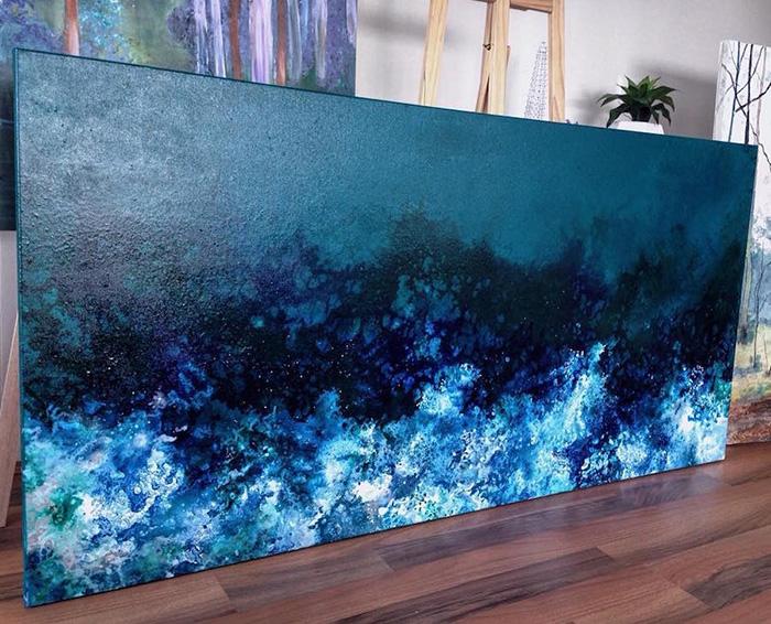 vanessa mae large scale ocean waves paintings