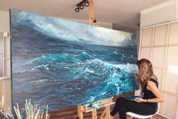 vanessa mae ocean waves paintings